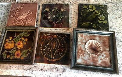 Anitque Tile Art Lot Cambridge And Other No Name Tile
