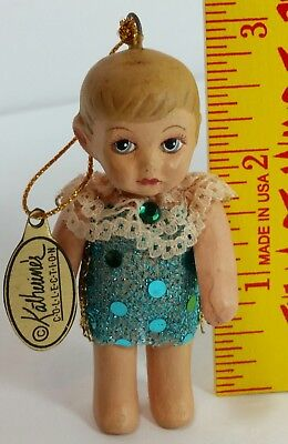 Katherine's Collection Christmas Jointed Arm Doll Ornament q