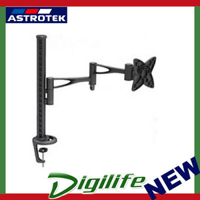 Astrotek Single Monitor Stand Desk Mount 44cm Arm 13-27' Tilt Swivel Rotate VESA