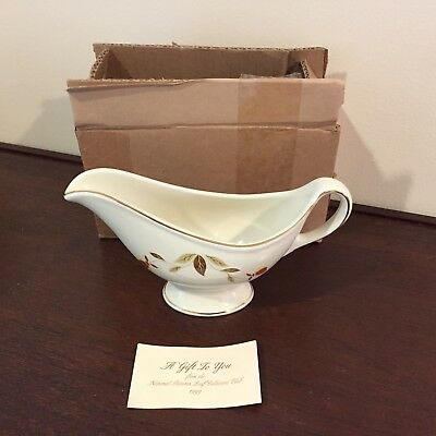 Hall Autumn Leaf Gravy Boat, NALCC 1999, Mint!