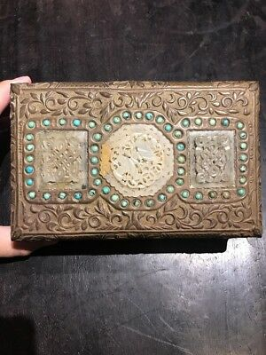 Chinese antiques white Jade Box Qing Ming China Asian
