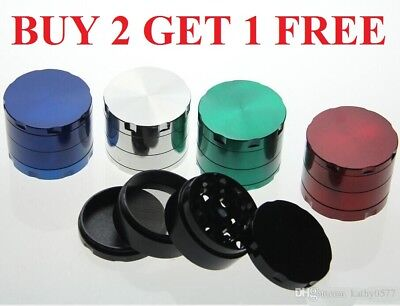 Tobacco Grinder ALLOY Crusher Hand Muller Smoke Herbal Herb 4 Layer Metal NEW