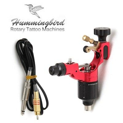 Hummingbird Rotary Tattoo Machine Gun Swiss Motor for Liner Shader + RCA Cord
