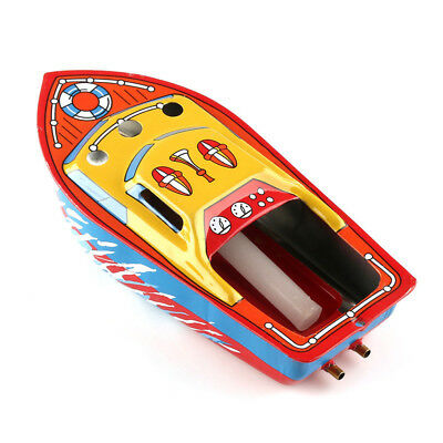 Recycled Put Put Steam Boat Pop Pop Candle Engine Powered Working Tin Toy