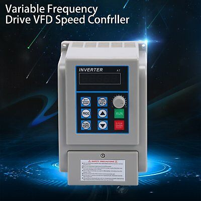 220V 8A 1.5KW VFD Variable Frequency Drive Inverter Speed Controller Converter!!