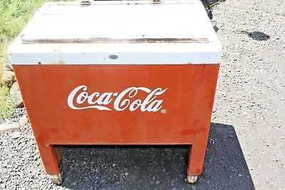 Antique Coca Cola Patio Ice Chest, Original, Coke Advertising,