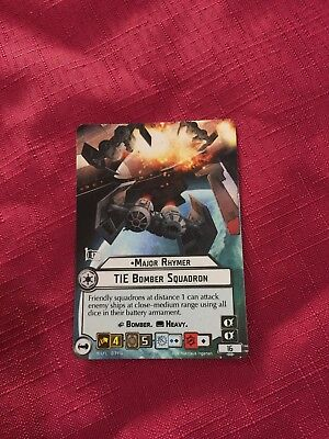 Star Wars Armada Promo Card - Major Rhymer