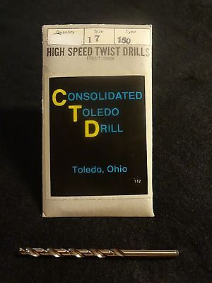 #17 Jobber Cobalt Drill Bit-Consolidated Toledo Drill-USA-NEW Sold by the each
