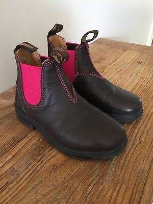 "Kids Blundstone ""Blunnies"" with Pink Elastic Size 12"