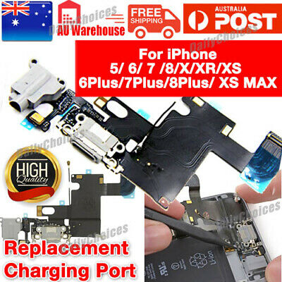 iPhone 6 6Plus Brand New Black wht Charging Port Charge USB Connector Flex Cable
