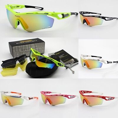 9f5674a56d 4 Pair Lens Men Rudy Project Polarized UV Cycling Sunglasses Bicycle Glasses
