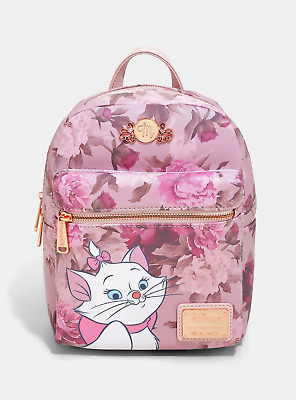 Brand New Disney X Loungefly The Aristocats Marie Floral Pink Mini Backpack