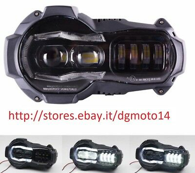 faro HEADLIGHT full led per bmw gs1200r dal 2004 al 2012 omologato can bus