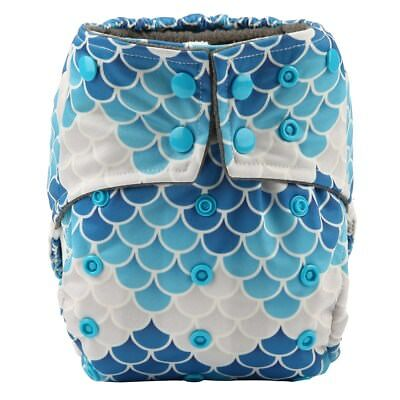 Baby Cloth Diaper Nappy Cover Bamboo Charcoal Double Leg Gussets Scales Girls