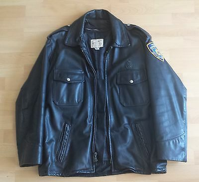 orig. TAYLOR'S NYPD Cop Leather Jacket Police Departement City of New York USA