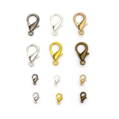 100pcs Loose Lobster Parrot Clasp Claw For Craft Necklace Jewelry DIY Bracelets