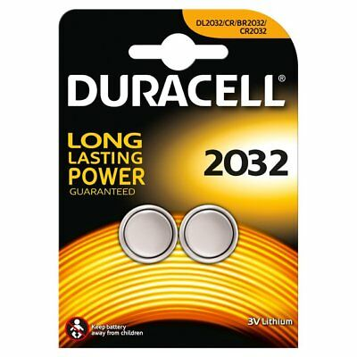 2 x Duracell CR2032 DL2032 2032 Coin Cell Batteries 3V Lithium TWIN PACK