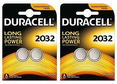 4 x Duracell CR2032 DL2032 2032 Coin Cell Batteries 3V Lithium 2 TWIN PACKS
