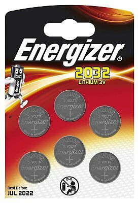 6 x Energizer CR2032 DL2032 2032 Coin Cell Batteries 3V Lithium 6 PACK VALUE