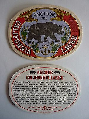 Anchor Brewing Co. California Lager Beermat Coaster