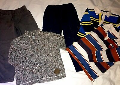 Size 4 Boy's Winter Clothing Pants Jeans Shirts Jumper As New