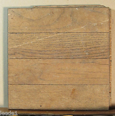 "Dozen 9"" Square Oak Parquet Tongue & Groove Salvage Vintage Flooring"