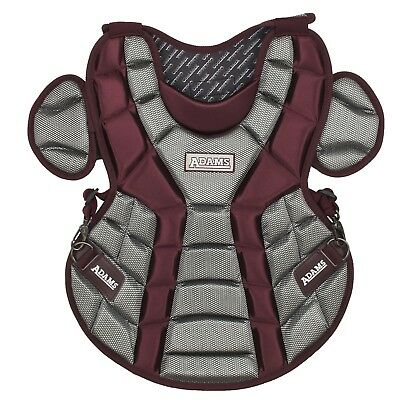 (Maroon) - Adams ACP-13 Youth Chest Protector with Detachable Tail (33cm )