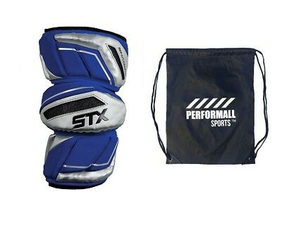 (Large, Royal-Blue) - STX Bundle: Shadow Lacrosse Arm Pads with 1 Performall