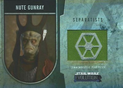 Star Wars Evolution - Commemorative Flag Patch Card /170 - Nute Gunray - NM