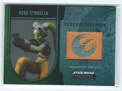Star Wars Evolution - Commemorative Flag Patch Card /170 - Hera Syndulla - NM