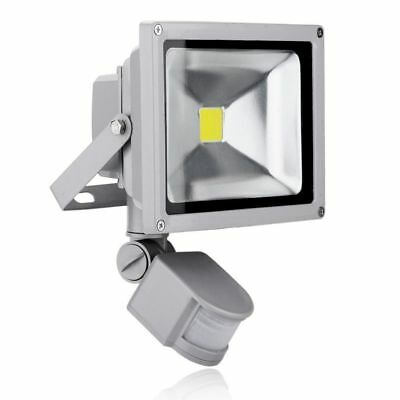 New PIR LED Floodlight Outdoor Garden Floodlight IP65 UK 20W,30W, 50 WATT