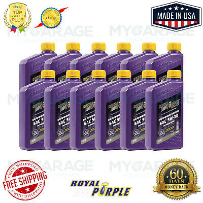 Royal Purple Motor Oil Multi-Grade Synthetic 5W30 Quart Each 01530 Pack Of 12