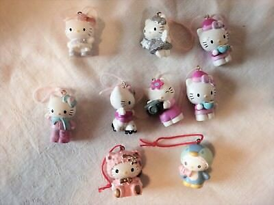 "Hello Kitty Ornament 1 1/4"" 76 06 Sanrio Set of 9"
