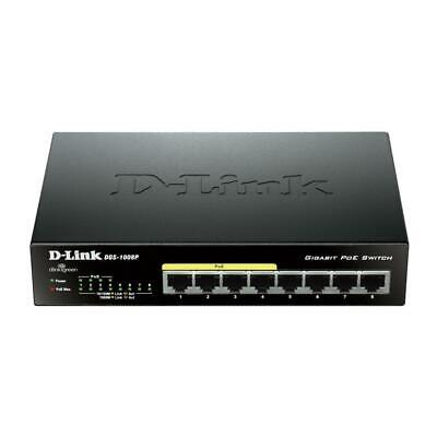 D-Link DGS-1008P 8-Port Gigabit PoE Unmanaged Desktop Switch Power over Ethernet