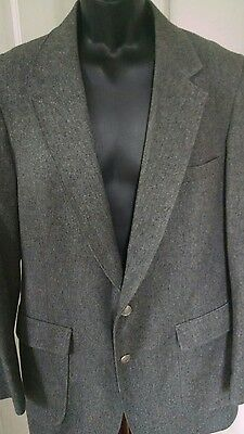 Arnold Palmer Blazer Sport Coat Suit Jacket 42R Gray Solid Wool Golf Masters