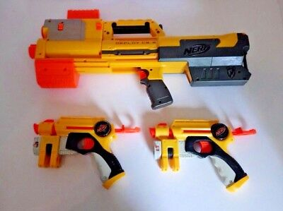 Nerf Gun Bundle N-Strike Elite Deploy Cs-6 Pump Action + 2 X Laser Dart Set