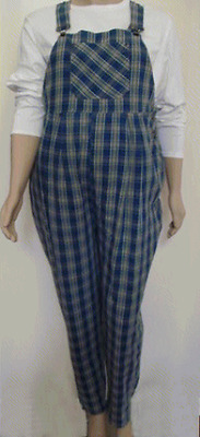 Plus size maternity plaid bib overalls XL NWOT