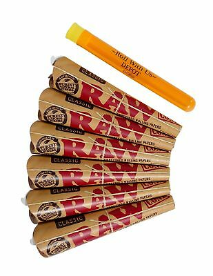 RAW 1 1/4 Classic Rolling Paper Pre-Rolled Cones (6 packs of 6 cones, 36 ... New