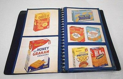 VINTAGE 1961 SUNSHINE BISCUITS CO. SALESPERSON PRODUCT BOOK, w/FULL COLOR CARDS