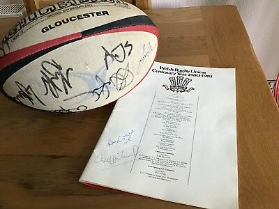 Gloucester Signed Rugby Ball