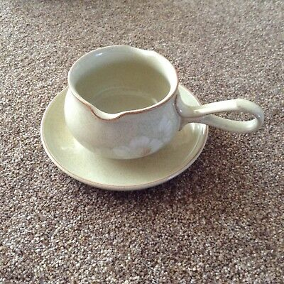 Denby Daybreak Gravy / Sauce Boat And Matching Saucer