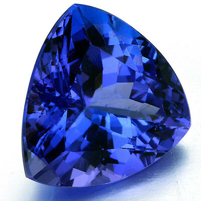 Large 5.38Ct Top Blue Tanzanite Unheated 9X9Mm Pear Shape Aaaa+ Loose Gems