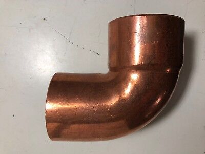 "2-1/2"" Close Street Elbow, 90 Degree Bend, Wrot Copper CxC"