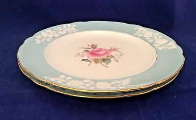 Lot of 2 VINTAGE 1950'S SPODE OLD COLONY ROSE DINNER PLATES Made in ENGLAND