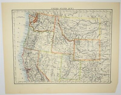 ANTIQUE 1842 HAND Colored ALABAMA MAP Old Authentic Vintage Atlas ...