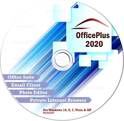Open Office Plus 2018 CD Software Suite for Microsoft Windows Home Student Pro