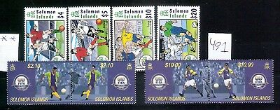 Solomon Islands 2004 - 6 - Football beautiful stamps / two sets ** MNH(491)