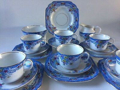 ART DECO MELBA BONE CHINA TEA SET MAYER & SHERRATT 20 Pieces