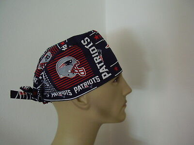 Surgical Scrub Hat/Cap -NFL-NEW ENGLAND PATRIOTS  - One size- Men Women