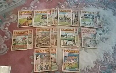 Vintage Retro 24 x Tiger and Jag Comics From 1971